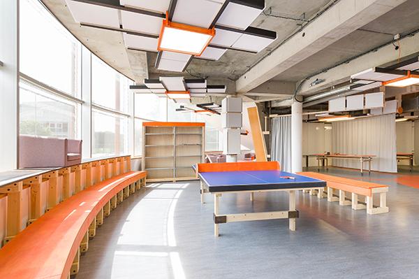 Espace détente du laboratoire de conception innovante de l'ESB