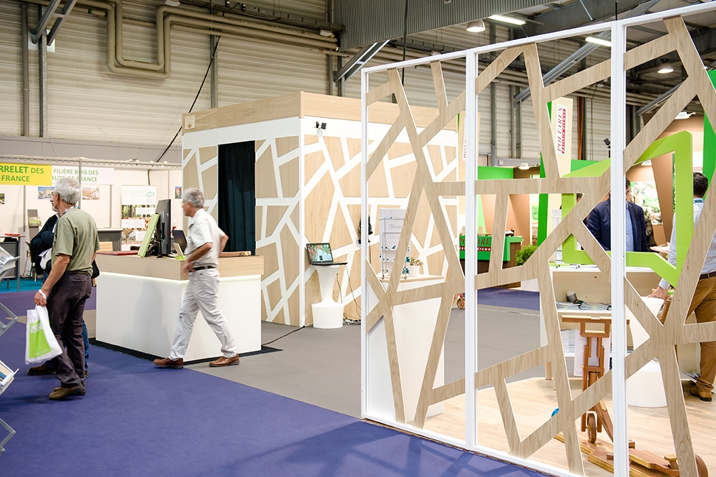 ESB student product wood show stand
