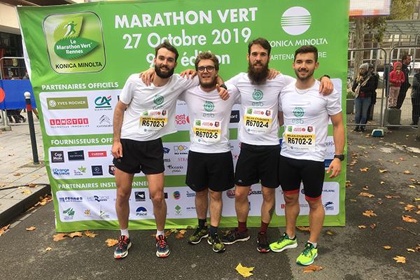 Equipe d'apprentis ingénieur au marathon vert de rennes